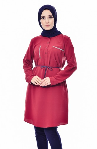 Kemerli Tunik 1750-01 Bordo 1750-01