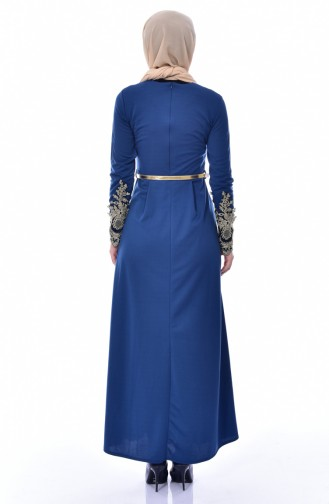 فستان نيلي 4462-09