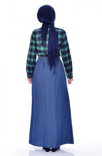 Elastic Waist Skirt 6920-01 Blue Jeans 6920-01