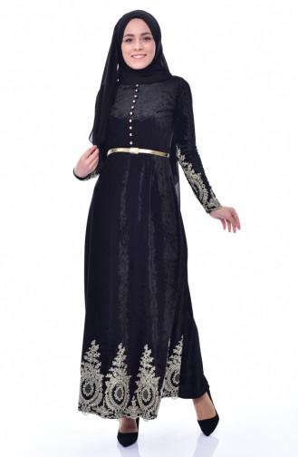 فستان أسود 4484-01
