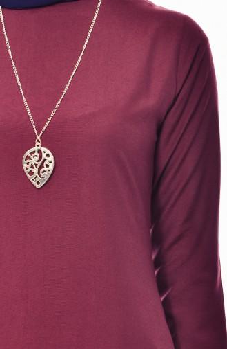 Tunika mit Halskette 3053-22 Kirsche 3053-22