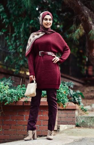 Claret red Sweater 0404-04