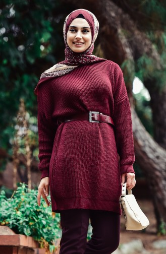 Weinrot Pullover 0404-04