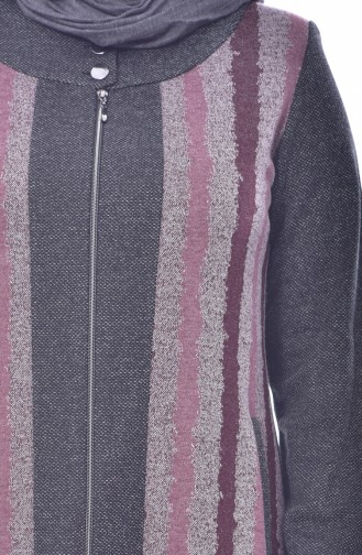 Large Size Striped Cape 6060-05 Dried Rose 6060-05