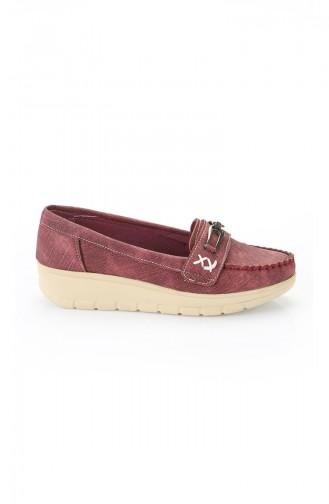 Claret red Woman Flat Shoe 11004-02