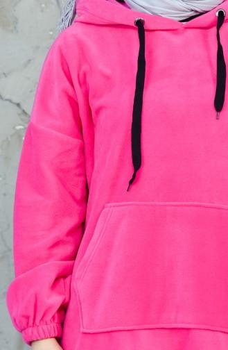 Hooded Fleece Sweatshirt 7777-03 Pink 7777-03