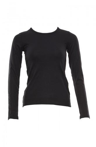 Anıl Kadın Termal Uzun Kol T-Shirt MAN8533-02 Siyah