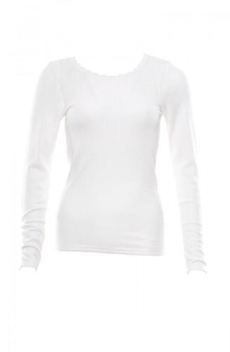 Body Thermique Manches Longue Pour Femme MAN8546-01 Ecru 8546-01