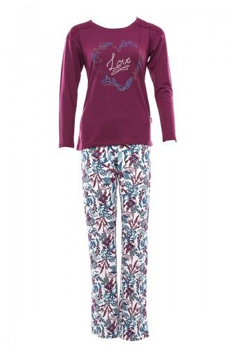 Women´s Pajamas Suit MAN9467-01 Cherry 9467-01