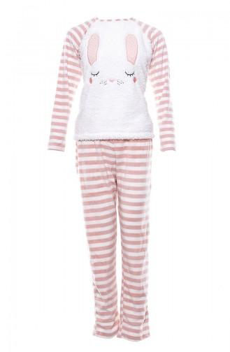 Anıl Kadın Pijama Takımı MAN9470-01 Ekru