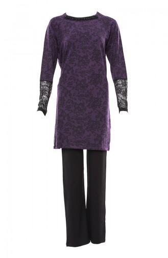 Lila Pyjama 9485-01