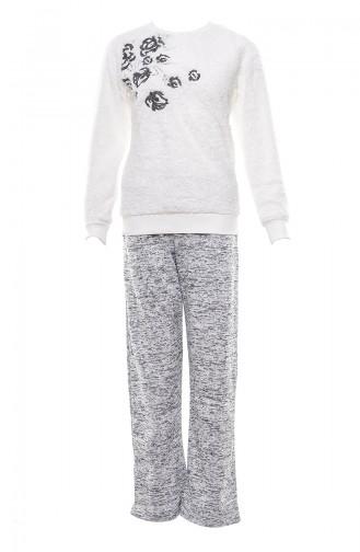 Weiß Pyjama 9499-01