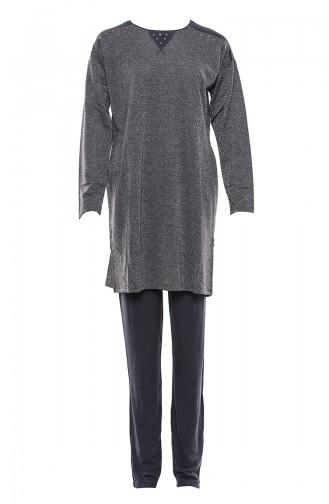 Anthracite Pyjama 9501-01