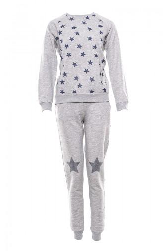 Women´s Pajamas Suit MAN9566-01 Gray 9566-01