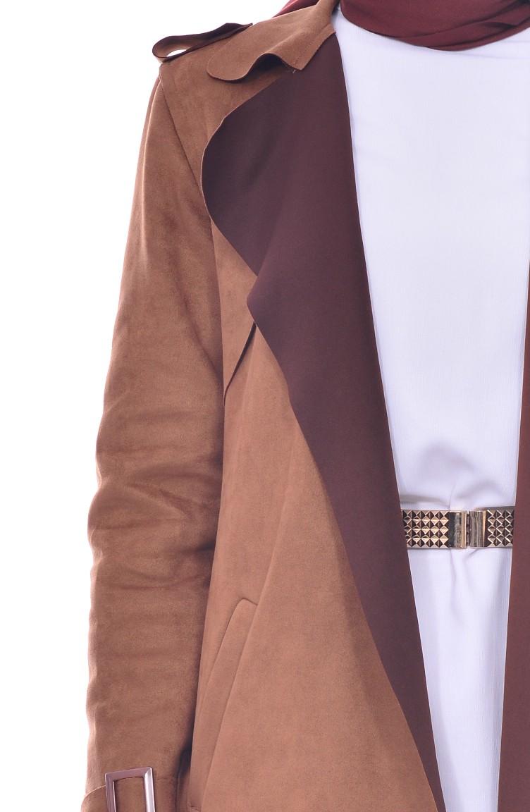 Trench Coat Daim a Ceinture 5012-06 Tabac 5012-06 e5b6479e438