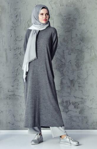 Tricot Slim Long Tunic 18461-08 Anthrciat 18461-08