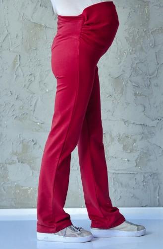 Pantalon de Grossesse Taille élastique 0415-04 Bordeaux 0415-04