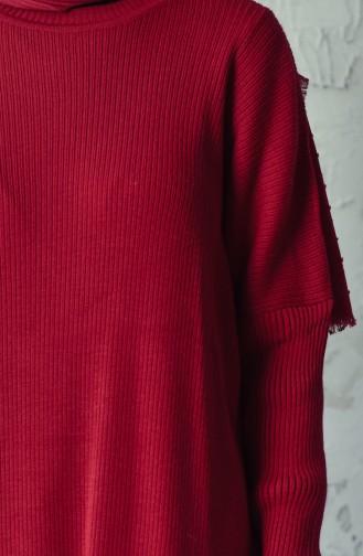 Tricot Slim Long Tunic 18461-03 Bordeaux 18461-03