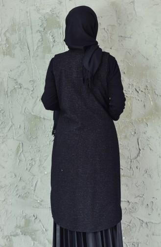 Gilet avec Poches 6338-03 Noir 6338-03