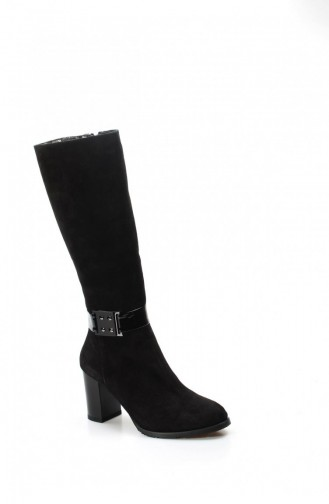 Fast Step Suede Boot 408Kza140 Black 408KZA140-16779343