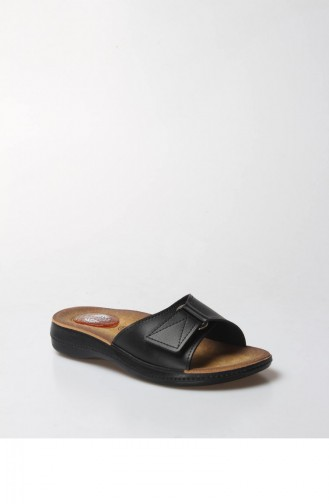 Fast Step Orthopedic Ladies Slippers 001Zkkelıs Black 001ZKKELIS-16777229