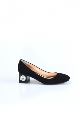 فاست ستيب حذاء بتصميم من الشامواه بكعب 064Za975 لون اسود 064ZA975-16777285