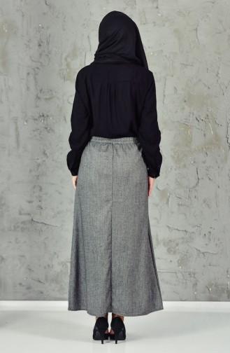 Elastic Waist Skirt 1038-02 Gray 1038-02