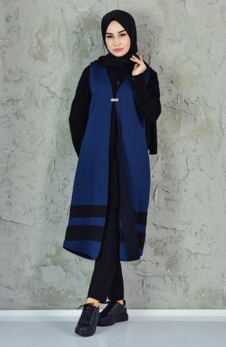 Gilet Garni 6336-02 Bleu Marine 6336-02