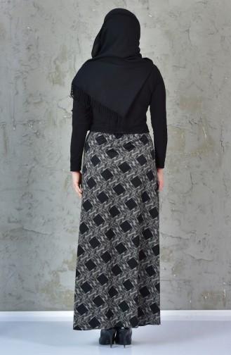 Patterned Skirt 1036A-01 Black 1036A-01
