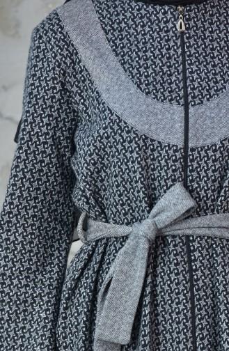 Abaya D`hiver a Fermeture 7087-03 Noir 7087-03