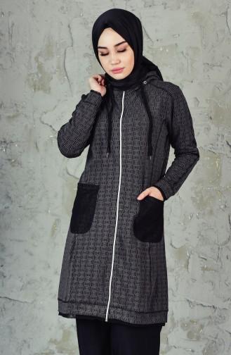 Pocket Trench Coat MGP7001-01 Black 7001-01