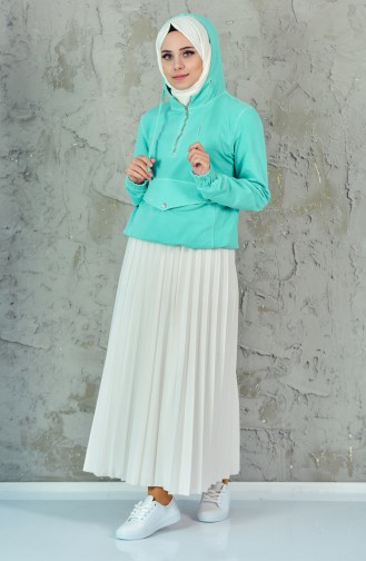 قميص رياضي تركواز 7039-01