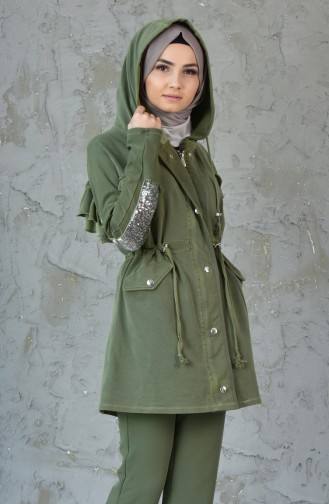 Sequined Trench Coat MGP7004-01 Green 7004-01