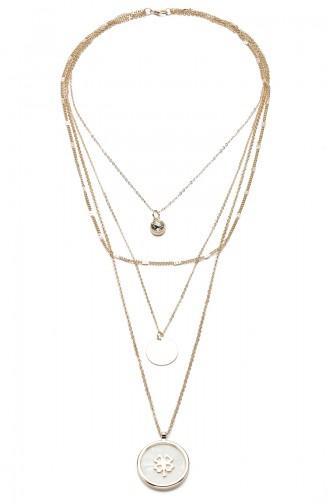 Gold Colour Necklace 9208