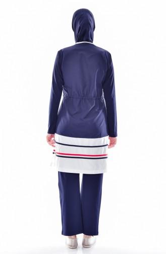Maillot de Bain Hijab 1277-01 Bleu Marine 1277-01