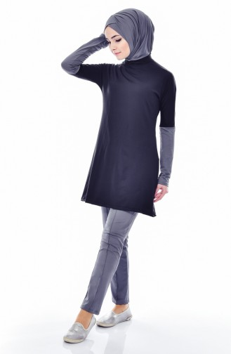 Light Black Swimsuit Hijab 1838-02
