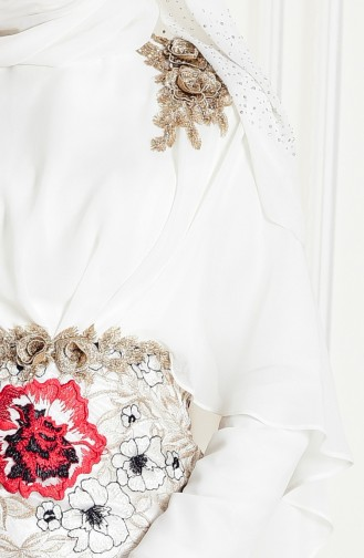 Lace Evening Dress 8282-02 Light Beige 8282-02