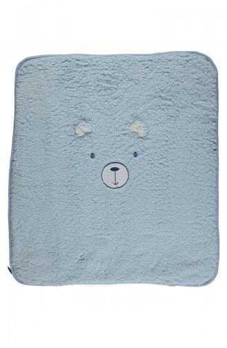 Bebetto Velsoft Elyaflı Battaniye B569-03 Mavi