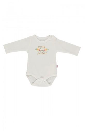 Bebetto Combed long sleeve Baby Bodysuit T1503-01 light Beige 1503-01