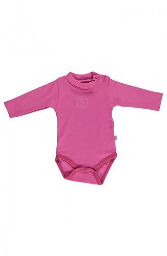 Bebetto long sleeve Spool Collar Baby Bodysuit T1599-01 Fuchsia 1599-01