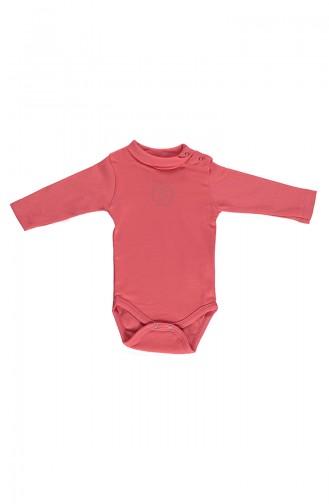 Bebetto long sleeve Spool Collar Baby Bodysuit T1599-03 pomegranate flower 1599-03