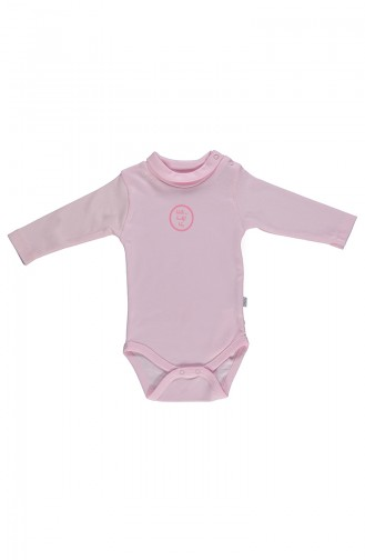 Bebetto long sleeve Spool Collar Baby Bodysuit T1599-04 Pink 1599-04