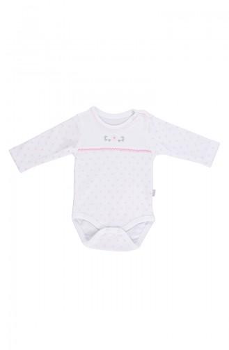 Bebetto Combed long sleeve Baby Bodysuit T1609-02 Pink 1609-02