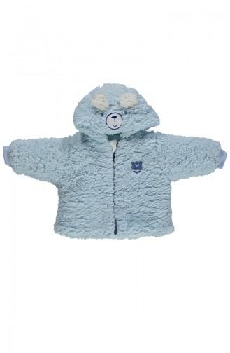 ببيتو معطف اطفال بتصميم من قماش البشكير الناعم K1888-03 لون ازرق 1888-03