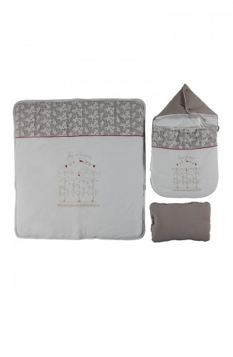 Bebetto Combed Fiber Openable Sleep Set P375-01 Beige 375-01
