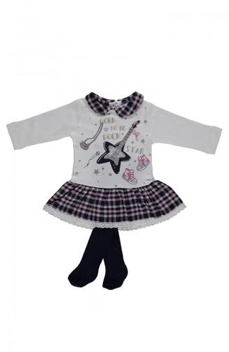 ببيتو طقم فستان للأطفال K1892-02 لون زهري 1892-02