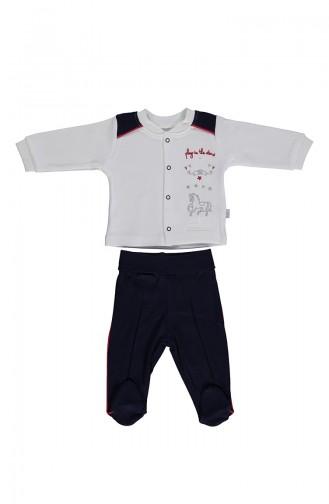 Bebetto Penye Patikli Pijama Takımı F990-02 Lacivert 990-02