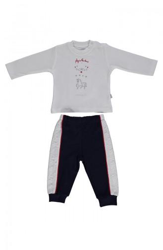 Bebetto Penye Pijama Takımı F991-01 Lacivert 991-01