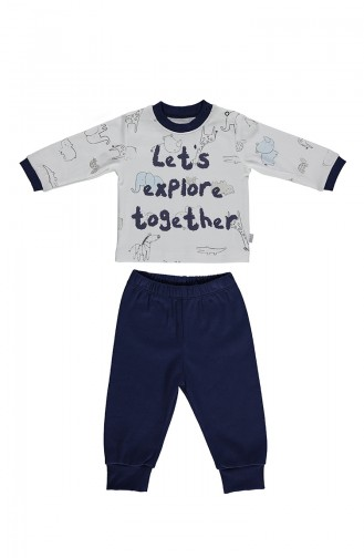 Bebetto Penye Pijama Takımı F997-01 Mavi 997-01