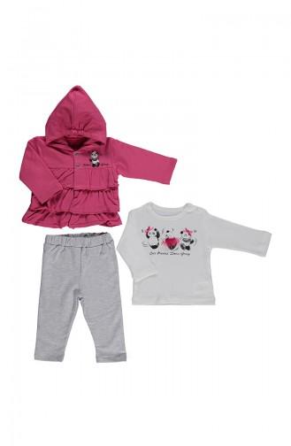 Bebetto Baby Cotton 3 Pcs Suit K1771-01 Fuchsia 1771-01